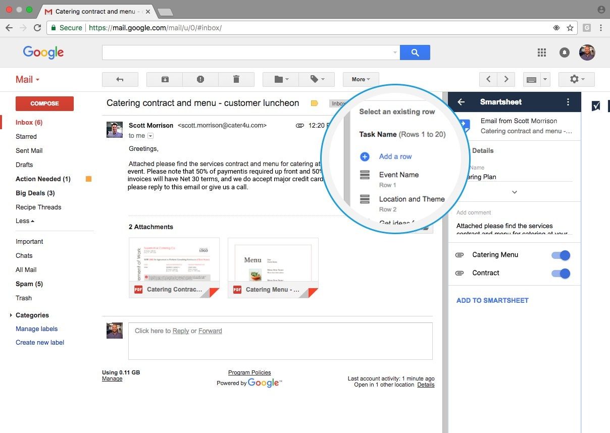 Add Email On Gmail gmail | smartsheet
